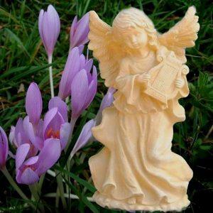 Karácsonyi dekoráció hárfás angyal