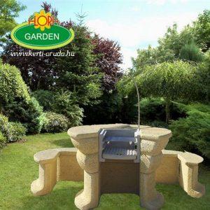 Olcsó kerti kőgrill