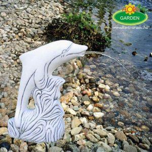 Vízköpő delfin kerti tóba dekoráció