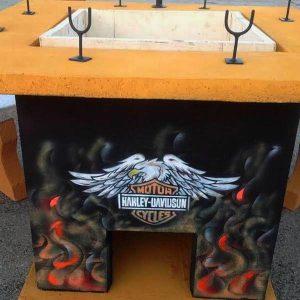 Eladó Harley Davidson kerti sütő bográcsozó