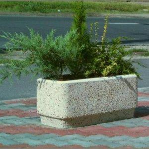 Fehérkavicsos virág láda kültéri 100cm