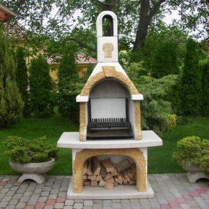Kéményes kerti grillsütő