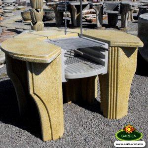 Kő kerti grill