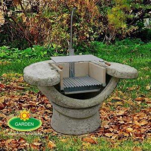 Kőből készült kerti grillező