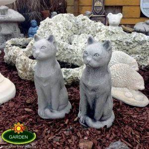 Macskás ajándéktárgy kültéri szobor
