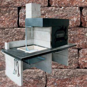 Modern kerti konyha Grill+kemence