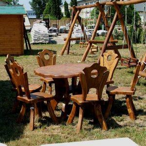 Kerti étkező különleges asztal székekkel