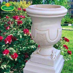 Kőből készült virágkehely műkő vázák