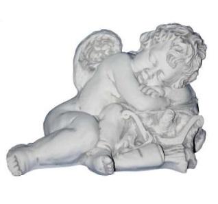 Hárfán fekvő angyal – karácsonyi dekoráció