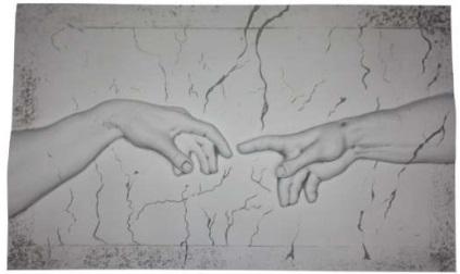 Michelangelo Ádám teremtése falikép