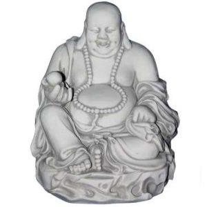 Rózsafüzérrel nevető Buddha szobor