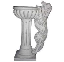 Különleges virágtartó kutya szoborral